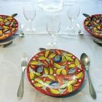 assiette-ceramique-rouge