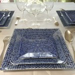 assiette-porcelaine-carree ensemble