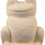grenouille-statue-pierre-reconstituee